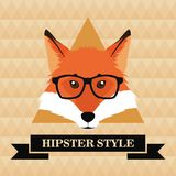 Style animal de hippie de Fox Illustration Stock