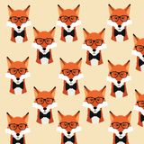 Style animal de hippie de Fox Illustration de Vecteur