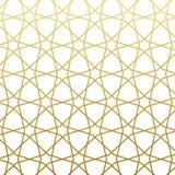 Style arabe d'or de modèle Fond décoratif géométrique est traditionnel illustration stock