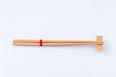 Style asiatique chinois japonais en bambou en bois de baguette sur le fond blanc Photo libre de droits
