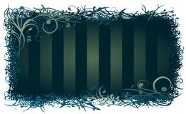 Style background. Decorative frame background with ornaments and stripes Vector Illustration