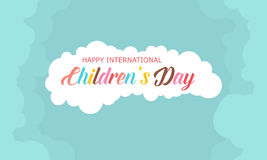 Style background children day collection. Vector illustration Royalty Free Stock Photography