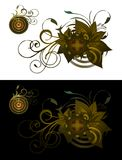 Style background vector. Old stylish background with ornaments Royalty Free Illustration
