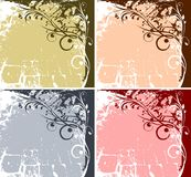 Style backround. Four colourful styleish backgrounds with ornaments Stock Illustration