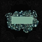 Style banner black  background green glossy Stock Image