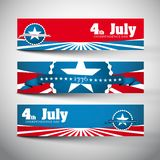 Style Banners Set with Independence Day Royalty Free Stock Photography