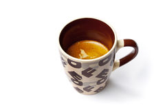 Style big  cup of espresso,nescafe coffee isolated on withe Stock Image