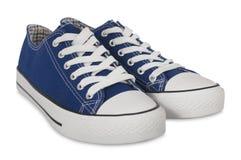 Style bleu de sports d'espadrilles Images libres de droits