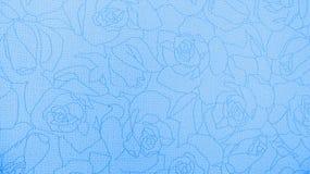Style bleu de vintage de Rose Floral Pattern Background Texture pour le matériel de meubles Photo libre de droits