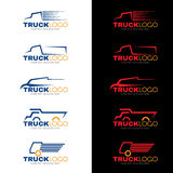 5 style blue red and yellow truck logo vector design Royalty Free Stock Photos