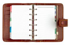 Style Brown Notebook Stock Photo