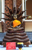 Style of buddha with a naga Stock Photography