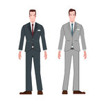 Style Businessman  suit wear cartoon vector Royalty Free Stock Images