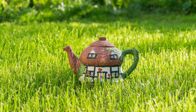 Style campagnard de pot de thé image libre de droits
