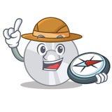 Style CD de bande dessinée de mascotte d'explorateur illustration de vecteur