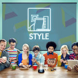 Style Character Vogue Trends Elegant Class Concept. People Having Style Character Trends Elegant Royalty Free Stock Image