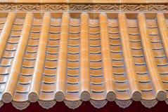 Style chinois orange de toit Photos stock