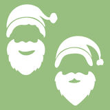 Style christmas greeting card design with Santa Claus. Vector il Stock Photography