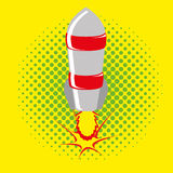Style comique Rocket Isolated On Background Images stock