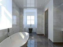 Style confortable d'art déco de salle de bains Photo libre de droits