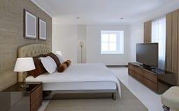Style confortable d'avant-garde de chambre à coucher Photo libre de droits