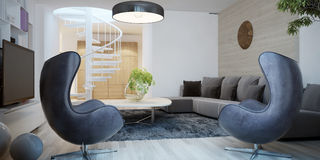 Style Contemporain De Salon Illustration Stock - Image: 48273849