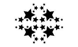 Style d'étoile sur la collection blanche de fond Photographie stock