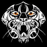 Style d'abrégé sur tête de tigre de dessin Image stock