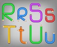 Style d'alphabet de crayon de couleur Image libre de droits