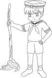 Style d'anime d'enfant de marin Image stock