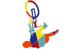 Style d'art de bruit de silhouette de vélo Image libre de droits