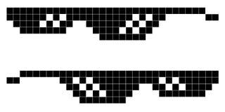 Style d'art de pixel en verre à 8 bits, mode de vie de voyou Photographie stock libre de droits