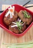 Style d'Asiatique de boulettes de viande images stock