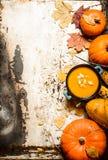 Style d'automne Potage de potiron avec des graines Image stock