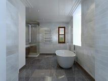 Style d'avant-garde de salle de bains Photographie stock libre de droits
