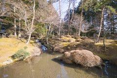 Style d'edo de jardin de Shoyoen dans le temple de Rinnoji à Nikko, Japon Image libre de droits