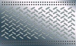 Style d'ellipse de modèle de texture de fond Ovale sur la feuille polie de chrome Bosses de métal de plancher en acier Conception illustration libre de droits