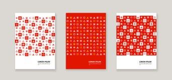 Style d'entreprise avec les chiffres géométriques illustration libre de droits