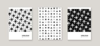 Style d'entreprise avec les chiffres géométriques illustration stock