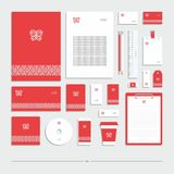 Style d'entreprise avec un connecter un fond rouge illustration libre de droits