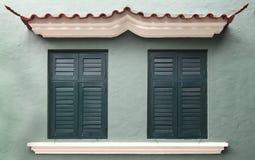 Style d'Européen de fenêtre de vintage Image stock