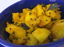 Style d'Indien de pommes de terre de Sautéed images stock