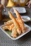 Style d'Oriental de crevettes roses frit par pâte lisse Photographie stock