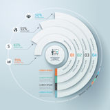 Style d'origami de cercle d'Infographics d'affaires. Photos stock