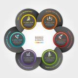 Style d'origami de service aux entreprises de cercle de flèche. Photographie stock