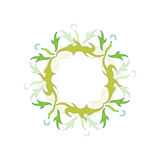 Style Dandelion. The frame on a white background made vectors royalty free illustration