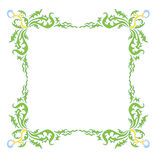 Style Dandelion Frame. The black frame on a white background made s. Little Box of bones and claws royalty free illustration