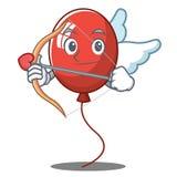 Style de bande dessinée de caractère de ballon de cupidon Photo stock
