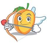 Style de bande dessinée de caractère d'abricot de cupidon Photos libres de droits