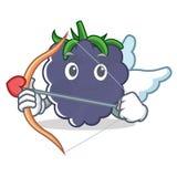 Style de bande dessinée de caractère de mûre de cupidon Image stock